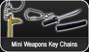 Mini Weapon Key Chains