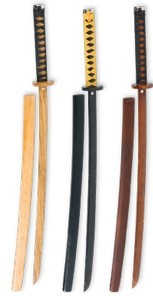 New - Wooden Roped Bokken With Scabbard