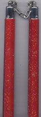 NR-047: Nunchaku Wood with Crackle Paint : Red