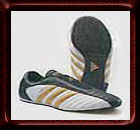 Adidas Ultra Shoes with Gold Stripes