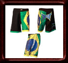 Tapout Brazil Flag MMA Fight Shorts